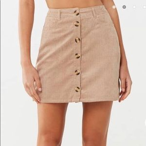 Forever 21 Skirts - Corduroy Mini Skirt (Khaki)